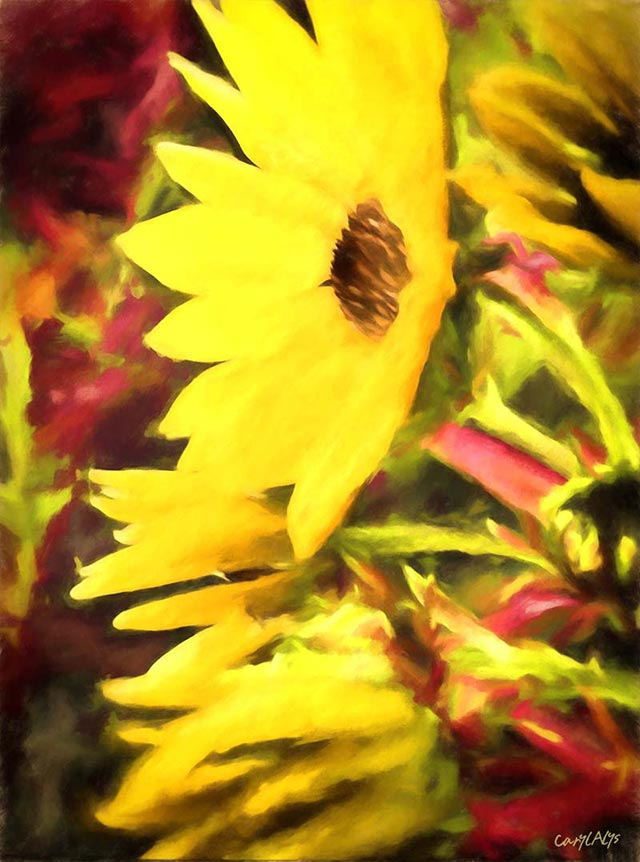 Fall Sunflower Giclee Print for Sale