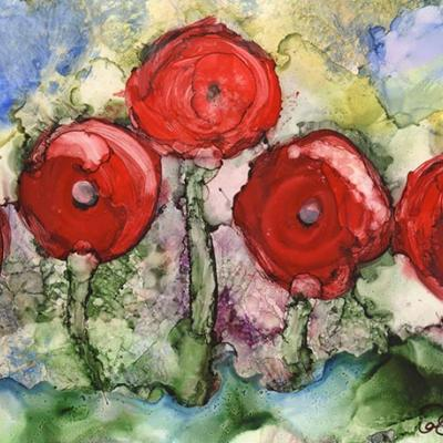 Flower Art with Alcohol Inks