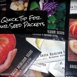 A Quick Tip for Saving Seed Packets